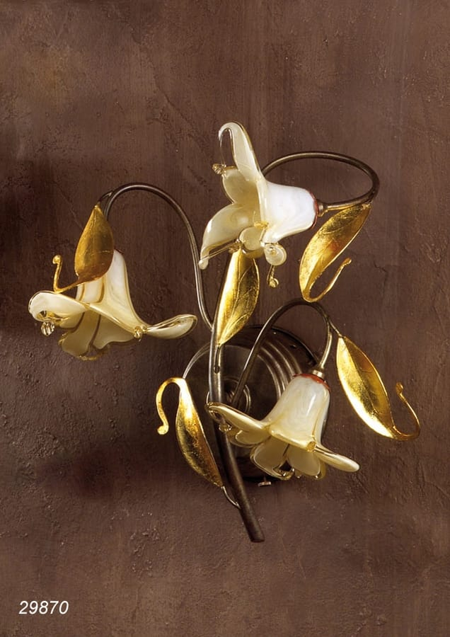 Art. 29870 Jolie, Wall lamp with Murano glass