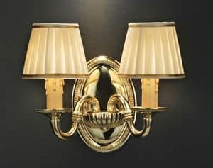 Art. 520/A2, Handcrafted wall lamp in brass