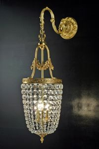 Art. 680 A Cr, Wall lamp with crystal chains