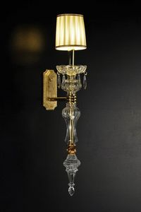 Art. 7920, Wall light in brass and glass