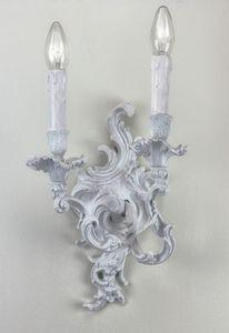 Art. 8000/A2, White brass classic applique lamp