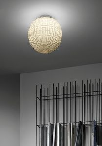 Ball, Spherical glass ceiling light