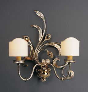 BILLI HL1067WA-2, Wall lamp in iron with fabric lampshades