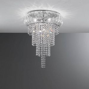 Cascata Sc366-015, Gorgeous ceiling lamp in crystal, hand-blown