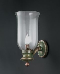 COPPONE HL1056WA-1, Wall light in brass and glass