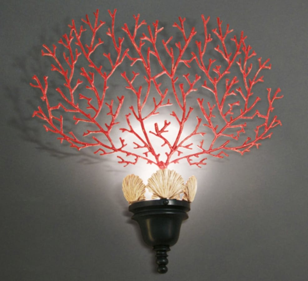 CORALLI HL1048WA-1, Wall lamp with red coral decoration