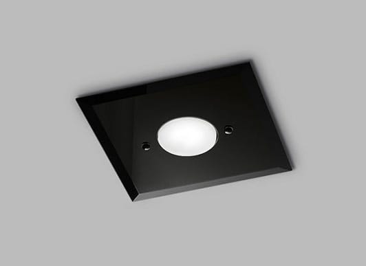 DADO L 20 x 20, Ceiling lamp in glass with single light