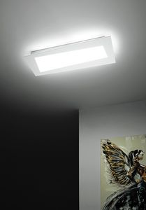 Debra Spigolo Rettangolo, Ceiling light with integrated LED modules