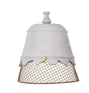 Domenica AP102, Wall lamp, in plaster and wire mesh