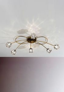 Flora Mc272-060, Ceiling lamp with 6 lights, with flower-shaped diffusers