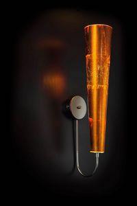 GOLD FIRE L 18, Orange leaf wall light