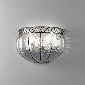 Harem Ma160-030, Classic style wall lamp, in metal and glass