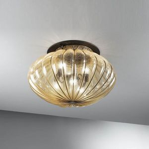 Harem Mc132-045, Classic ceiling lamp in antique amber glass
