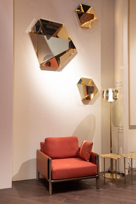 Kaleidos Lamps, Sculptural lamp in folded steel