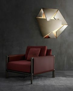 Kaleidos Lamps, Sculptural lamp in folded steel