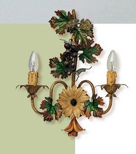 L.5190/6, Wall lamp with decorations in the shape of a bunch of grapes