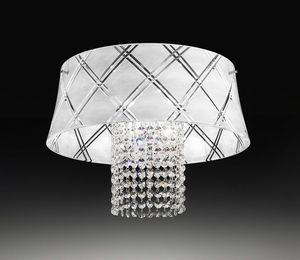 MEDUSA � 40, Ceiling lamp with cut crystal pendants