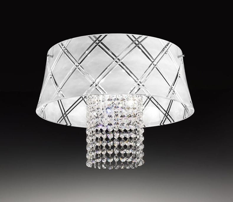 MEDUSA Ø 40, Ceiling lamp with cut crystal pendants