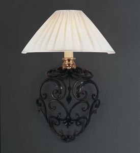 ORCIO HL1030WA-1, Iron wall lamp with fabric shade