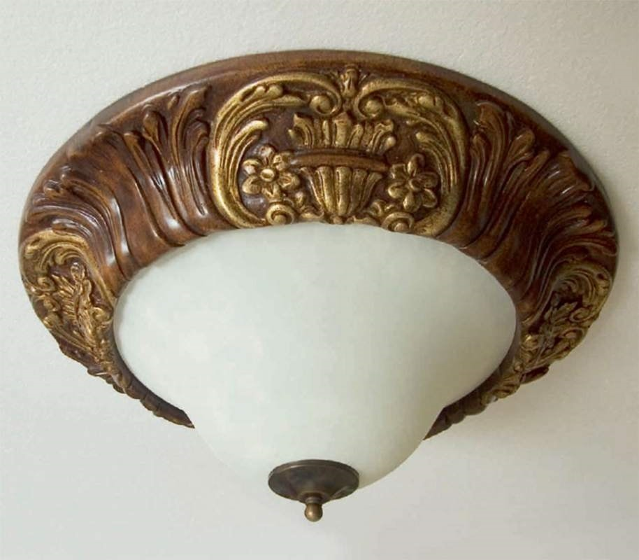 Palazzo Reale Art. PLA07/�, Classic style ceiling lamp, carved