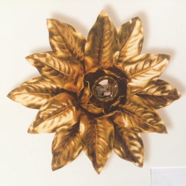PL.2130/1, Ceiling lamp with gold leaf decoration