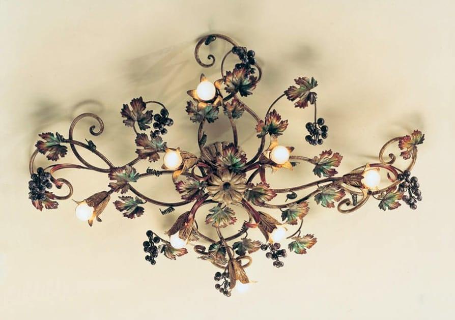 PL.5785/8, Ceiling lamp with autumn decoration