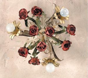 PL.6070/3, Ceiling lamp with decorative roses
