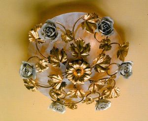 PL.6655/6, Ceiling lamp with antique white decorations
