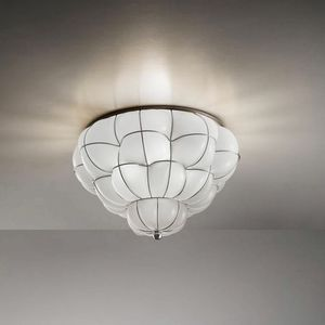 Pouff Rc383-035, Ceiling lamp in amber or white glass