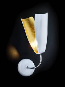 TROPIC L 8, Wall light in gold and metal leaf