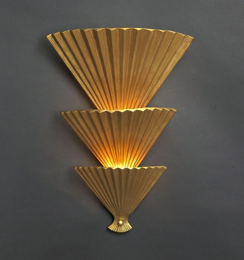 VENTAGLI HL1079WA-3, Brass sconce in the shape of fans