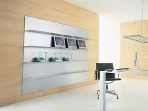 ALL comp.02, Linear shelf in extruded aluminum, for reading room