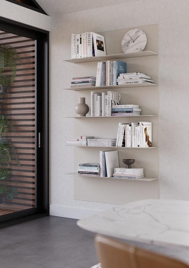 ALL comp.07, Modern aluminum shelves