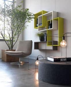 Citylife 51, Shelves for modern living rooms and waiting rooms