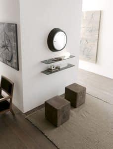 dl800 amburgo, Glass shelves for books, for professional studio