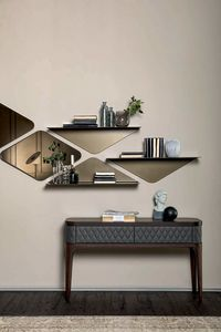 MATRIX shelf, Painted metal shelf