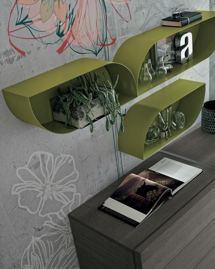 Petalo, Wall unit in matt lacquer
