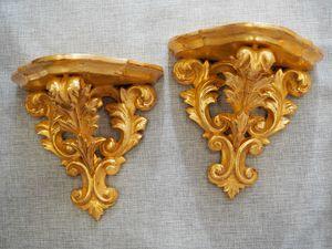 SHELF Art. AC 0036, Hand carved linden wood shelf