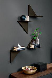 VELA, Painted metal shelf