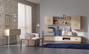 Amarcord Art. AM1004, Equipped wall for living room