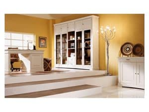 Art.100/L, Cabinet with bevelled glass doors, classic style