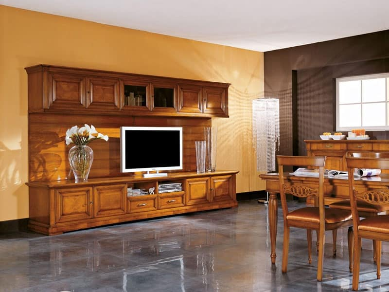 Art.106/L, TV-cabinet made of wood, classic style