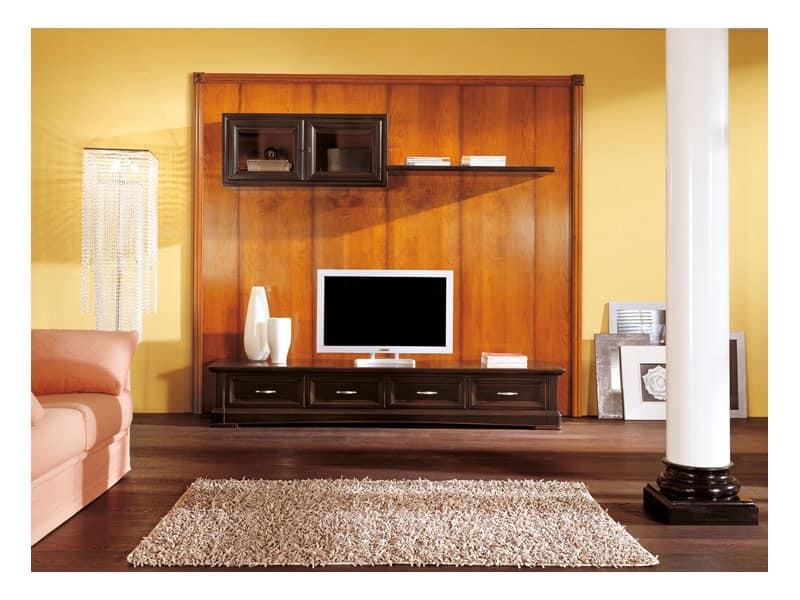 Art.108/L, Low cabinet with hangers for living rooms, classic style