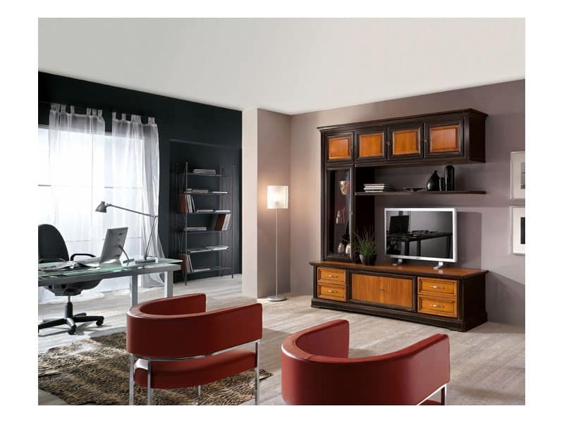 Art.115, Living room furniture in solid wood, classic style