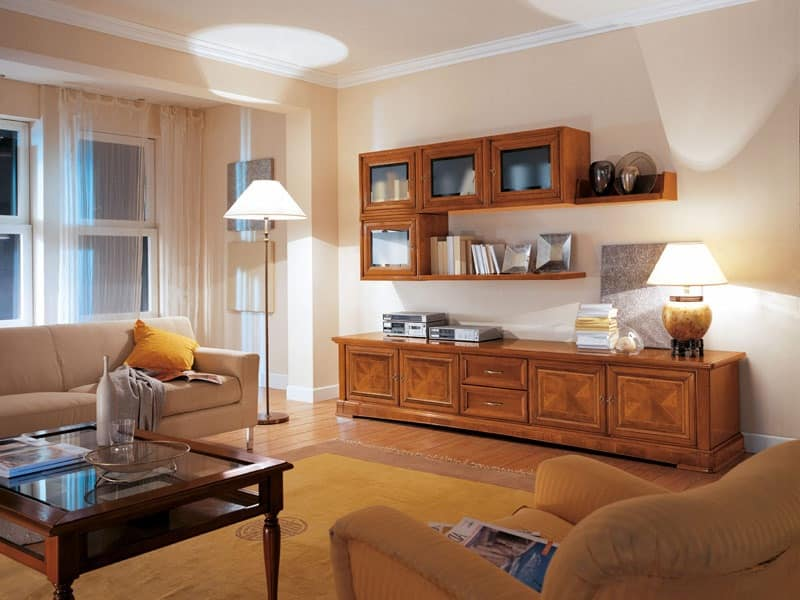 Art.117, Living room furniture with cupboards and drawers