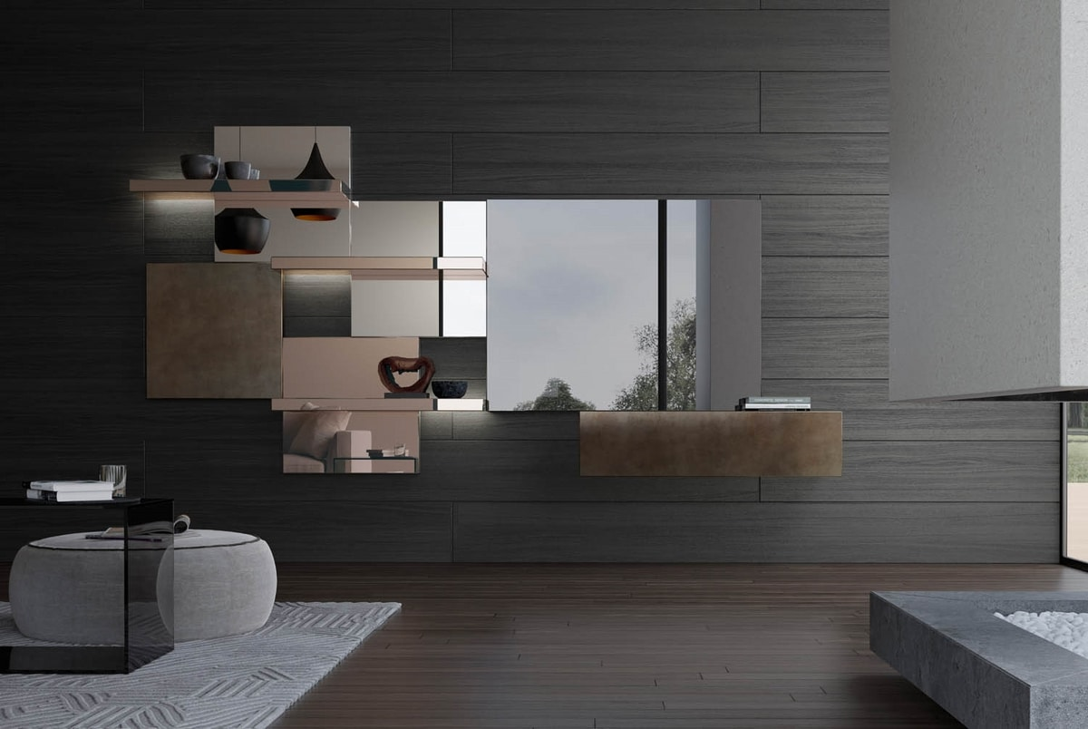 Attilio, Modular system with mirrors