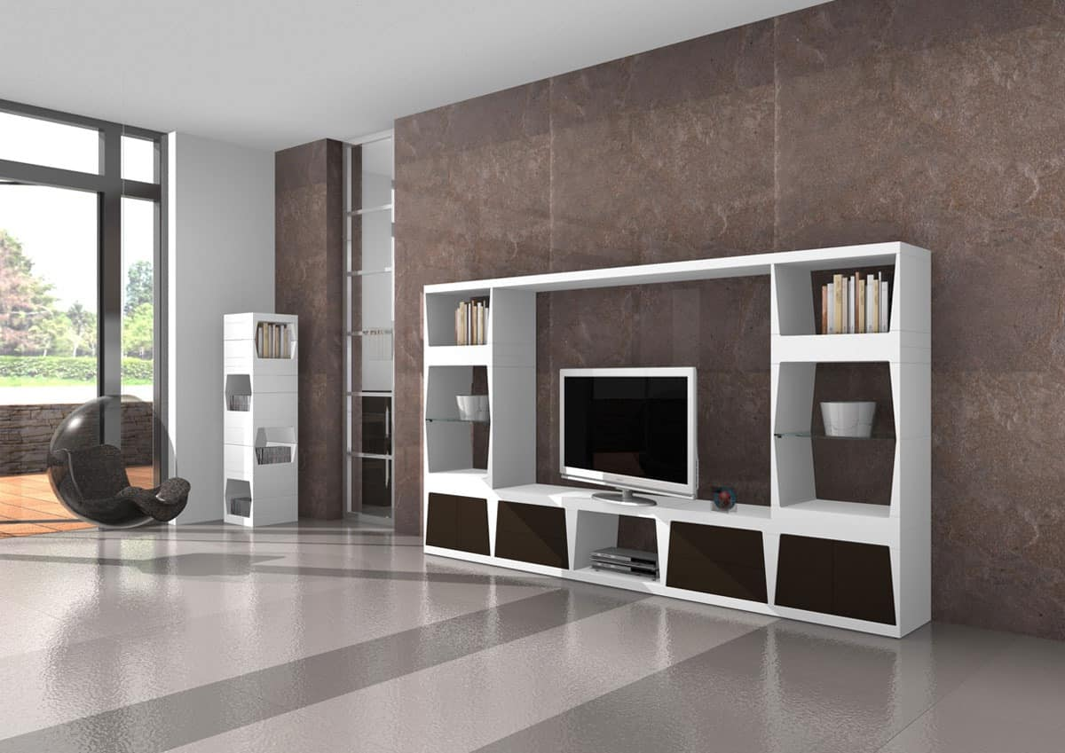 Bjorn, TV stand, base with drawers with push-pull opening
