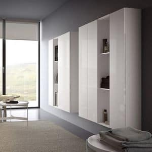 Spazio S302, Wall system for tv, modern and modular
