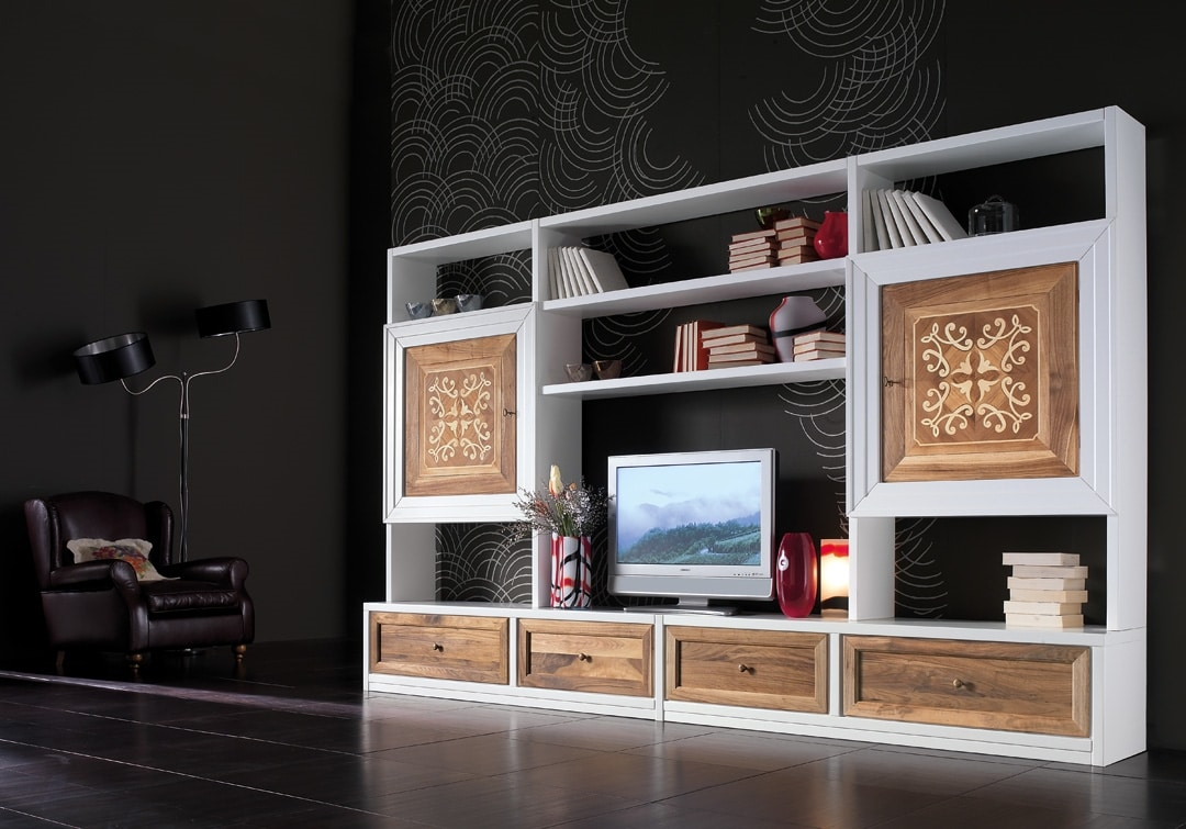 Ca' Venier Art. CV1005, Wall cabinet with lacquered structure
