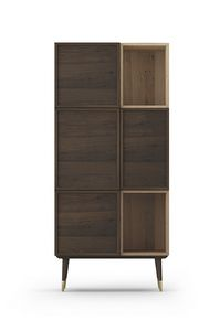 Cabinet Coco 012, Oak cabinet with folding doors